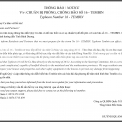 THÔNG BÁO / NOTICE: CHUẨN BỊ PHÒNG, CHỐNG BÃO SỐ 16 - TEMBIN
